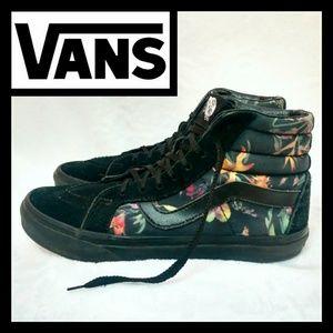 Vans Floral High Top Sneakers